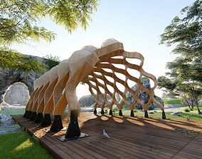 Pergola Modern design 3D