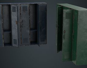 Locker 1B 3D asset