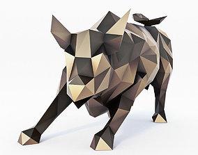 3D model Wall Street Bull Low Poly