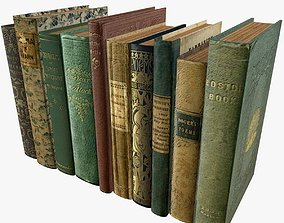 3D asset Old Books Type 8 Low Poly