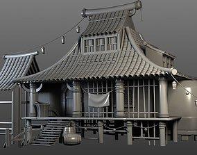 Village house 3D model home