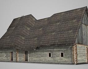 3D model Ancient building farmhouse dwelling