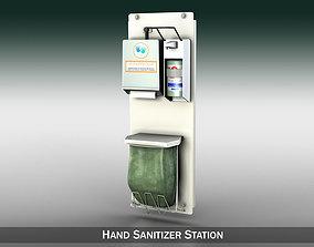 Hand Sanitizer Station 3D model