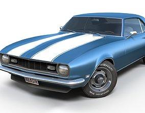 American generic muscle car 3D asset