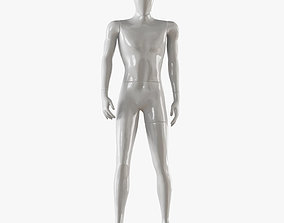 Faceless male white mannequin 17 3D model