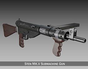 wwii Sten MK V Submachine Gun 3D model