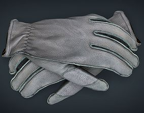 Leather Gloves 3D model VR / AR ready