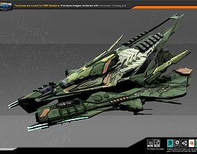 3D model SF Alien ComanderShip A4