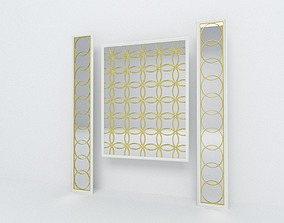 Decorative mirror panel 3D model