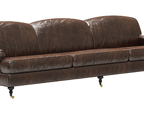 3D Restoration Hardware Barclay Leather Sofa