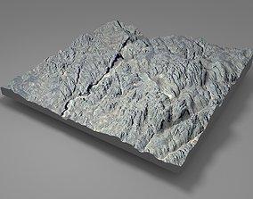 3D model Mountain landscape grass