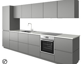 3D Modern kitchen VOXTORP GRAY