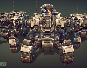 Mech Constructor - Spiders and Tanks 3D asset animated
