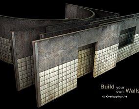 3D asset Wall - construction kit - set D