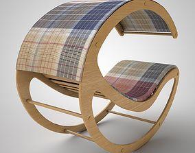 Deck chair 3D garden-furniture sun