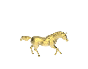 Arabic Horse in galloping position 3D printable model