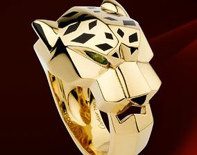 3D print model Cheetah style ring - jewelry