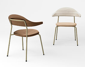 3D model Bassam Fellows Bicorn side chair
