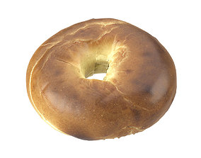 Photorealistic Bagel 3D Scan pastry