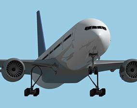 Boeing 777-300er 3D model game-ready