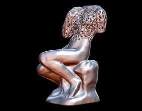 Sitting Woman 3D printable model