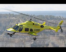 3D model Bell 222 Yellow