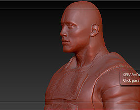dwayne Johnson - Luke hobes this is 3D printable model 4