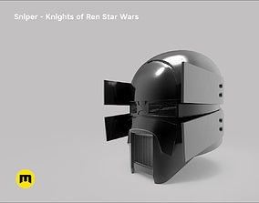 3D print model Sniper helmet - Knights of Ren - Star Wars