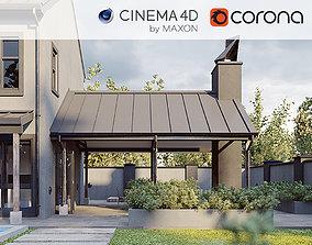 Corona - C4D scene files - Modern Farmhouse 3D