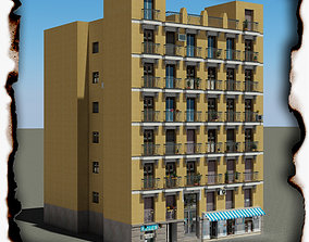 3D model game-ready european-building Building