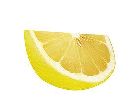 3D model fruit Lemon slice