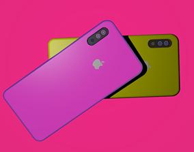 3D asset iPhone X Low Poly