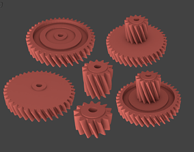 Different Gears 3D printable model