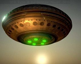 UFO Type 8 Animated and Game Ready 3D model