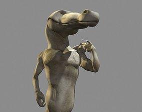 3D model David Crocodile Statue