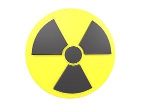 3D model Radiation Symbol v1 001