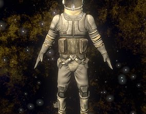 3D model Rigged Spaceman