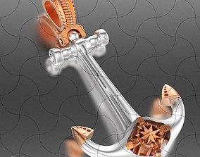 Hook Pendant With Naurical Star 3D printable model