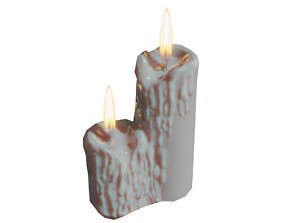 3D asset Candles Twin - Lowpoly with Animation