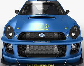 Subaru Impreza STi Wrx 2000 3D