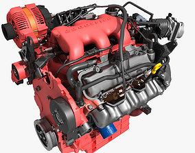 3D model Car V6 Engine