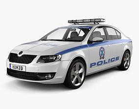3D Skoda Octavia Police Greece liftback 2013