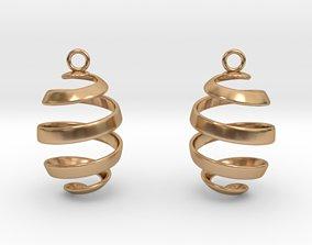 Ribbon Earrings 3D printable model