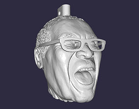 3D print model Robert Mugabe laughing head keychain