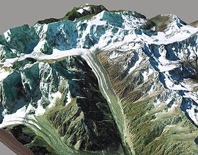 Mountain landscape Ushba Georgia 3D