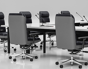 3D model Conference Meeting Room Furniture 04