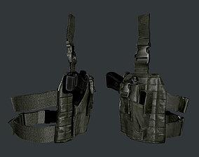 Military Police Gun Holster Game Ready 03 3D asset