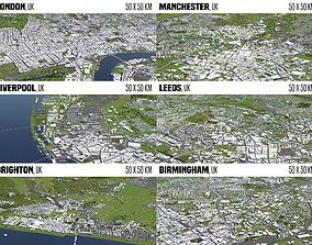 3D model UK 6 Cities
