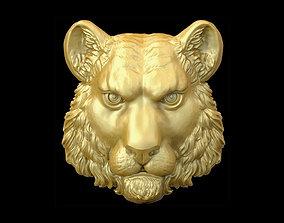 Tiger head 3D printable model