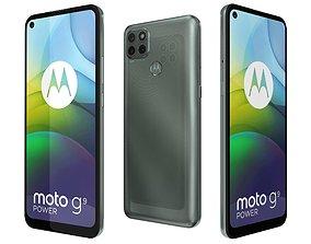 3D model Motorola Moto G9 Power Metallic Sage